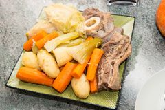 Beef stew and vegetable, pot au feu Royalty Free Stock Images