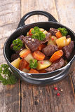Beef stew and vegetable Royalty Free Stock Images