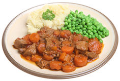 Beef Stew with Vegetables Royalty Free Stock Photography