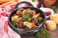 Beef stew and vegetables Stock Images
