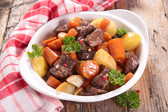 Beef stew and vegetables Royalty Free Stock Images