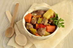 Beef stew with vegetables Stock Images