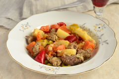 Beef stew with vegetables Royalty Free Stock Photos