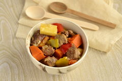 Beef stew with vegetables Royalty Free Stock Images