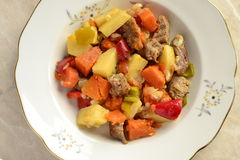 Beef stew with vegetables Stock Photos