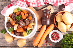 Beef stew and vegetables Royalty Free Stock Image