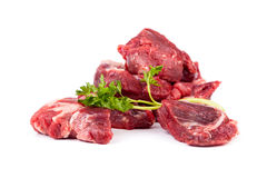 Beef Stew On White Stock Images