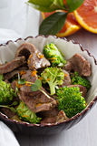 Beef stewed with broccoli Royalty Free Stock Images