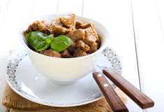 Beef stewed Royalty Free Stock Photo