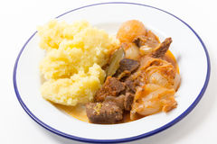 Beef stifado stew meal Stock Images