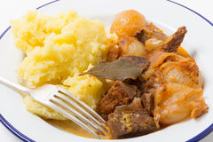 Beef stifado stew meal Stock Photography