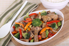 Beef Stir Fried Royalty Free Stock Photo