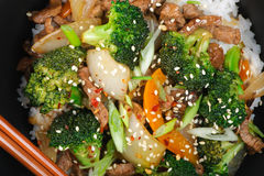 Beef Stir-Fry Royalty Free Stock Photos