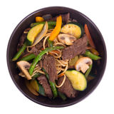 Beef stir fry bowl Royalty Free Stock Image
