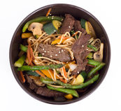 Beef stir fry bowl Royalty Free Stock Images