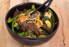 Beef stir fry bowl Stock Photos