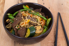 Beef stir fry bowl Stock Images