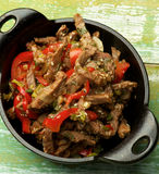 Beef Stir-fry with Sesame Royalty Free Stock Photo