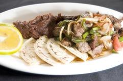 Beef stir fry  tamales Nicaragua Stock Photography