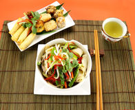 Beef Stirfry And Dimsums Stock Image
