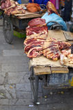 Beef in the street of Lhasa Royalty Free Stock Images