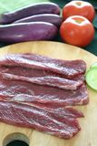 Beef strips Royalty Free Stock Images