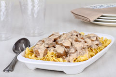 Beef Stroganoff Royalty Free Stock Photo