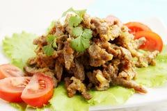 Beef Stroganoff with cilantro Stock Photo