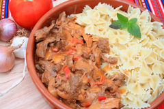 Beef stroganoff close-up Stock Photo