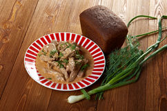 Beef Stroganoff  closeup Royalty Free Stock Images