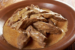 Beef Stroganoff  closeup Stock Photography