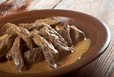 Beef Stroganoff  closeup Royalty Free Stock Image