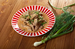 Beef Stroganoff  closeup Stock Images