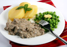 Beef stroganoff horizontal Stock Images