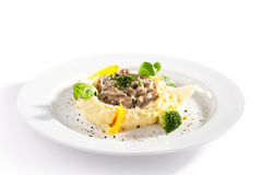 Beef Stroganoff with Mashed Potato Royalty Free Stock Image