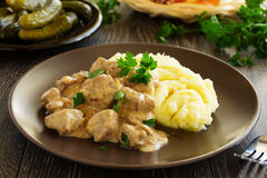Beef Stroganoff Royalty Free Stock Photos
