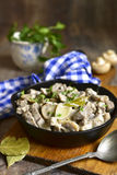 Beef stroganoff with mushrooms. Stock Image
