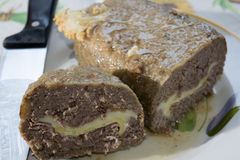 Beef stuffed meat loaf Stock Photography