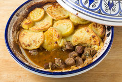 Beef and sweet potato tagine Royalty Free Stock Photo