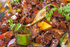 Beef Szechuan chinese meal at a buffet Stock Images