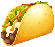 Beef taco with vegetables Royalty Free Stock Image