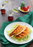 Beef tacos with  tomato and cheese Royalty Free Stock Photography