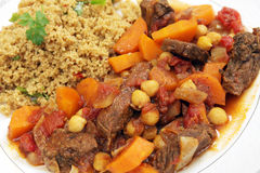 Beef tagine with couscous Stock Photo