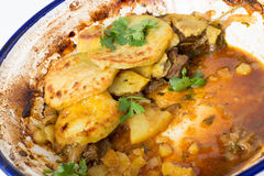 Beef tagine leftovers Stock Image