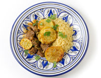 Beef tagine plate Stock Photos