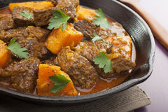 Beef Tagine with Sweet Potato royalty free stock photo