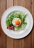 Beef tartar with fried egg Stock Photos