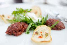 Beef tartare Stock Images