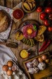 Beef tartare dish Stock Image