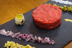 Beef tartare royalty free stock photos